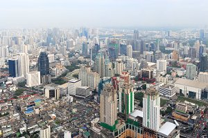 Panorama of Bangkok, Thailand