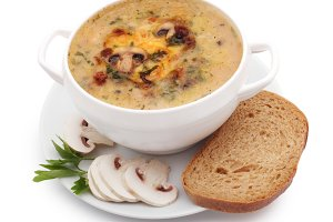 soup of mushrooms
