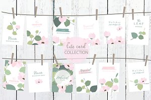 12 cute natural design cards4#