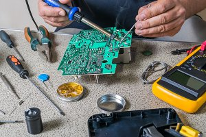Electronics repair and metering