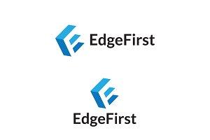 E Letter Edge First Logo Design
