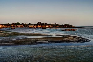 Estuary of Gambia river