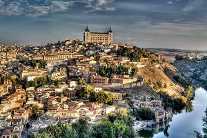 Panorama the old city of Toledo, Spain