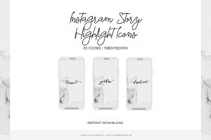 Minimal Instagram Highlight Covers