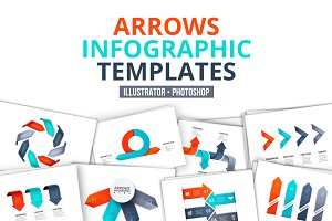 Arrows infographic templates