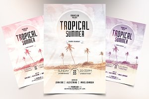 Tropical Summer - PSD Flyer Template