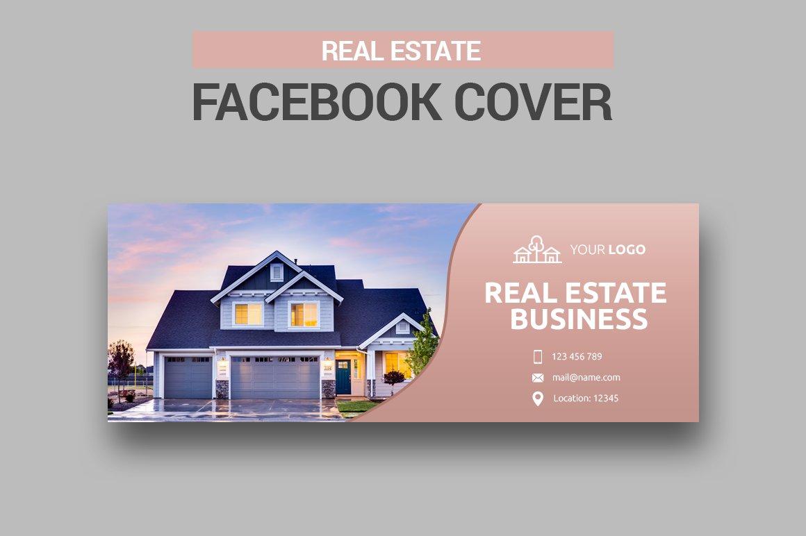Real Estate Facebook Cover Facebook Templates Creative Market