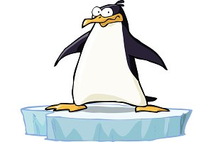 Penguin on the ice floe