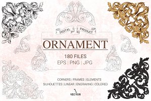 Vector Baroque Ornament elements