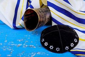 shofar prayer talit. rosh hashanah