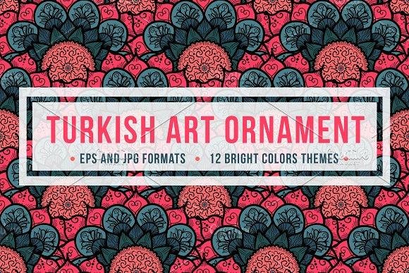 Turkish Art Ornament Graphic Patterns Creative Market Mesmerizing Turkish Pattern
