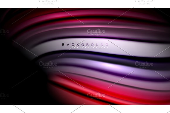 Abstract wave lines fluid color stripes in Illustrations