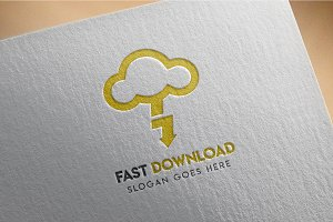 Cloud / download / hosting - Logo