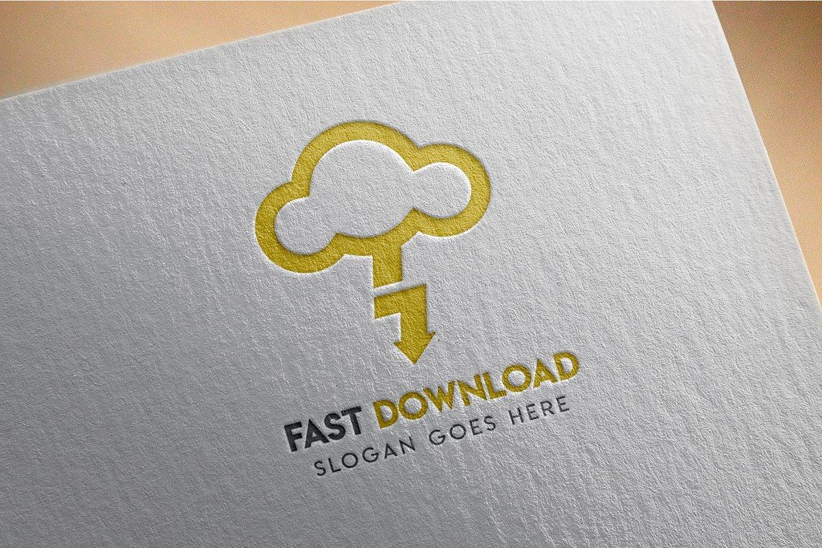 Cloud Download Hosting Logo