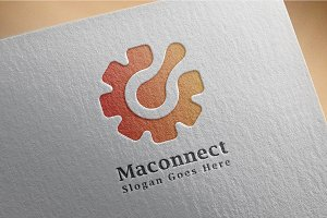 Machine / connect / logo