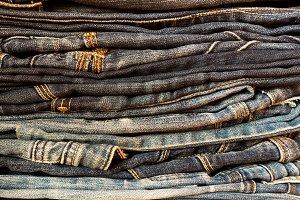 Denim texture blue jeans classic.