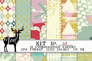 Unicorn Friends Paper Kit 53