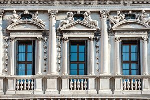Facade of white Doge's Palace