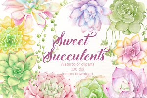 Succulent cliparts