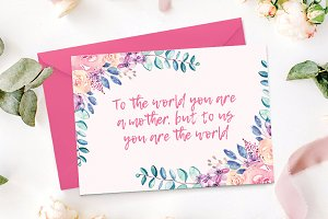 Mother's Day Card Template + BONUS