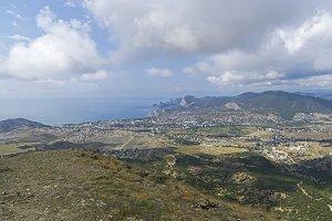 Seaside valley on Black Sea coast