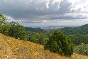 Slope of the ridge, Crimea.