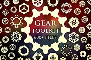 Gear Toolkit(Brushes, JPG, PNG, SVG)