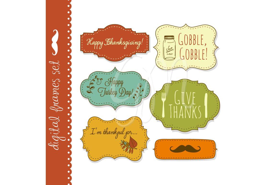 18 Thanksgiving Frames, backgrounds ~ Illustrations ~ Creative Market
