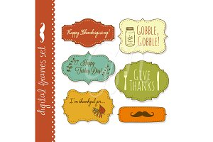 18 Thanksgiving Frames, backgrounds