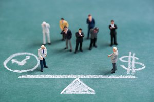 business miniature people