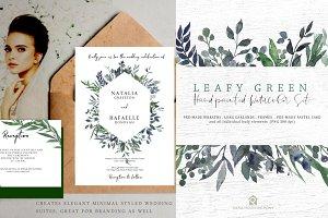 Leafy Green - Watercolor Set