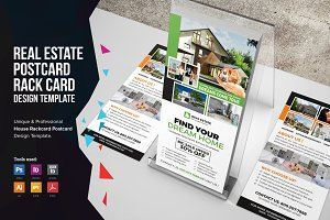 Real Estate Postcard & Rackcard v3