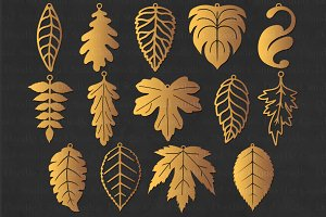 Leaf Earrings SVG, Leaf Tear Drop.