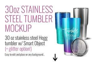 30oz Stainless Steel Tumbler Mockup