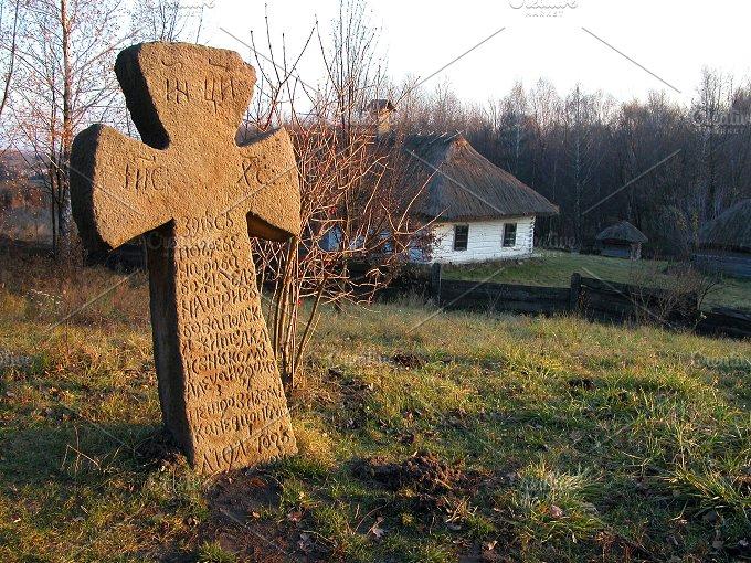 "Stone cross. ""Pirogovo"", Ukraine - Architecture"