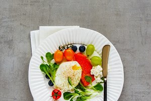 Delicious breakfast plate