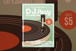 DJ Party Flyer Poster