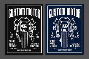 Custom Motor Poster Flyer