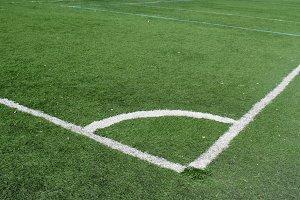 Soccer Corner Green Field