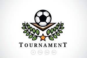 Football Tournament Logo Template