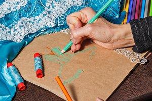 Sketches fashion designer
