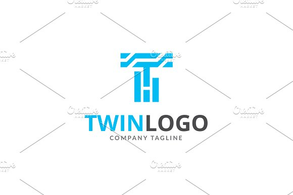 Twin T letter Logo