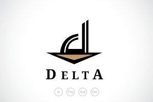 Letter D Delta Logo Template