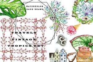 Travel Vintage Tropics Set