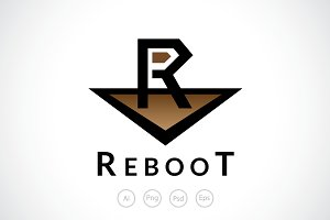 Letter R Reebot Logo Template