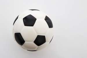 Small soccer ball on the white background,World Cup