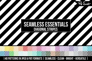 40 Seamless Diagonal Stripe Set
