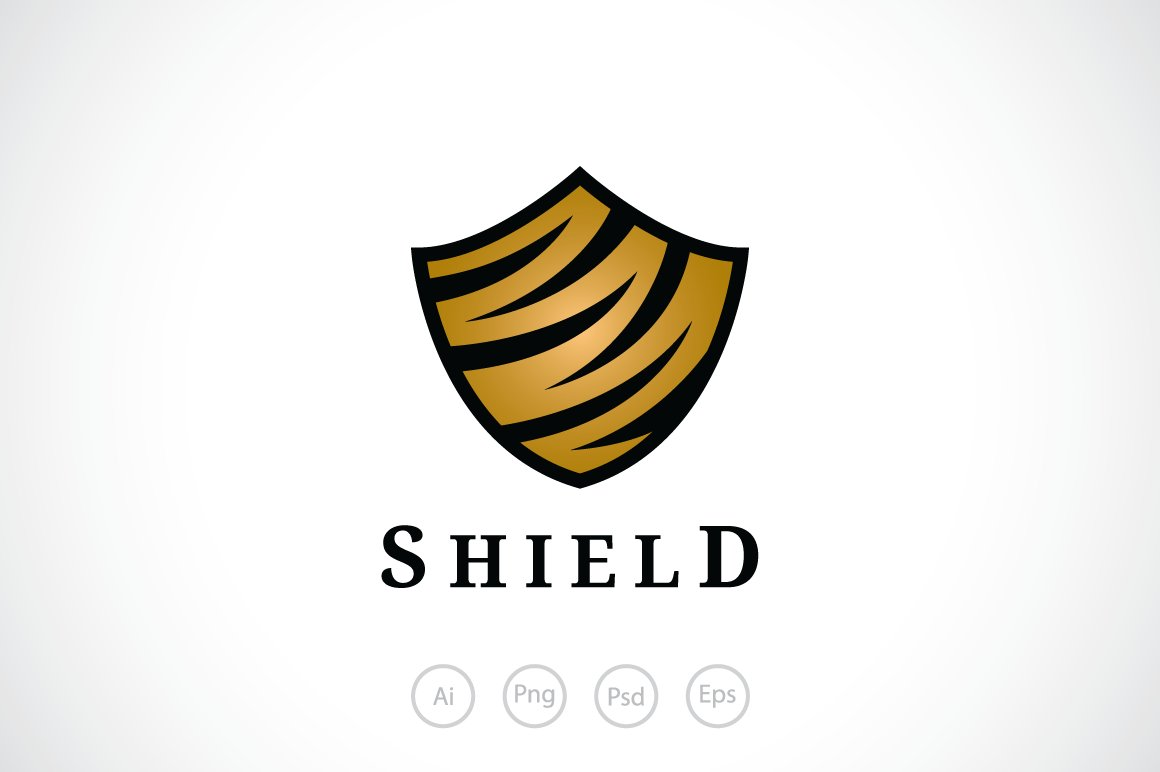 Tiger shield logo template logo templates creative market maxwellsz