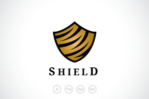 Tiger Shield Logo Template