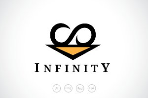 Triangle Infinity Logo Template